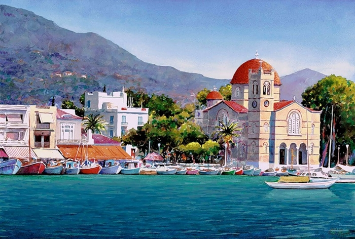 Pantelis Zografos 1949 | Greek Watercolor painter