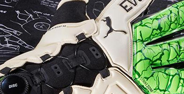 cadef03a1 Continuing to innovate away from the spotlight, Puma today launched the  evoDISC, its first goalkeeper glove to feature the Disc system for an  easier and ...