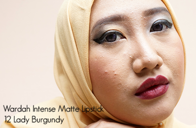 Review Wardah Intense Matte Lipstick 12 Lady Burgundy