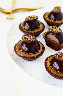 Chocolade-koffie tartelettes