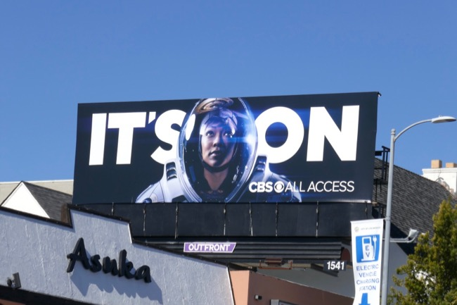 Star Trek Discovery Its On billboard