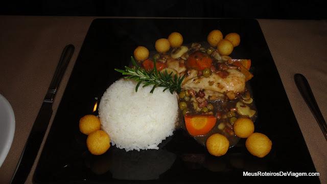 Filé à Bourguignonne no restaurante Pequeno Bosque - São Joaquim/SC