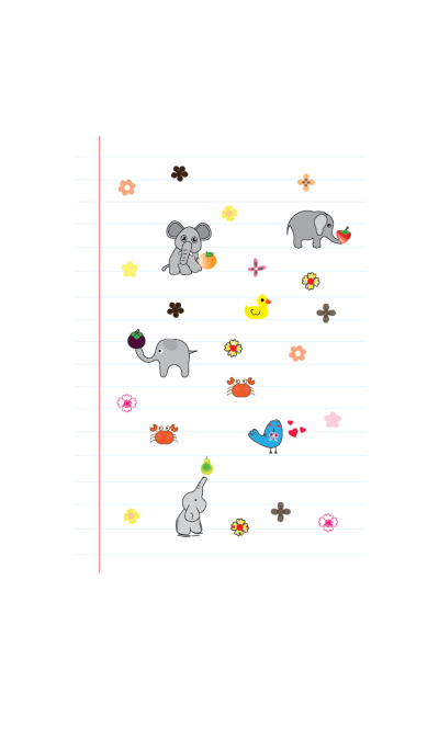 Cute elephant theme v.2