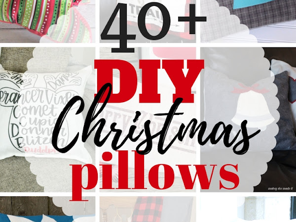 DIY Christmas Pillows for Your Home