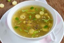 Babycorn Capsicum Clear Soup
