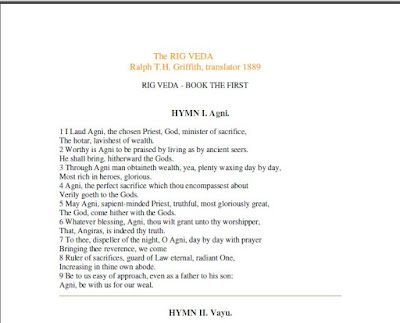 Rig Veda in English Translated by Ralph T.H Griffth Download eBook in PDF