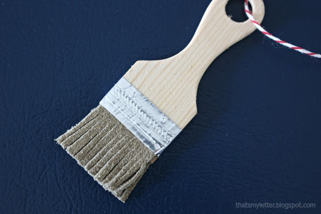 miniature paint brush ornament details