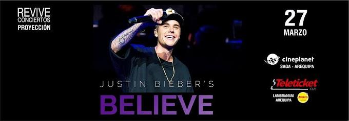 Proyección del Concierto de Justin Bieber Believe - 27 de marzo