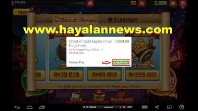 600 Chest golden apples fruit ninja gratis buat kamu