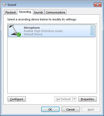 Cara Aktifkan Microphone di Windows 7