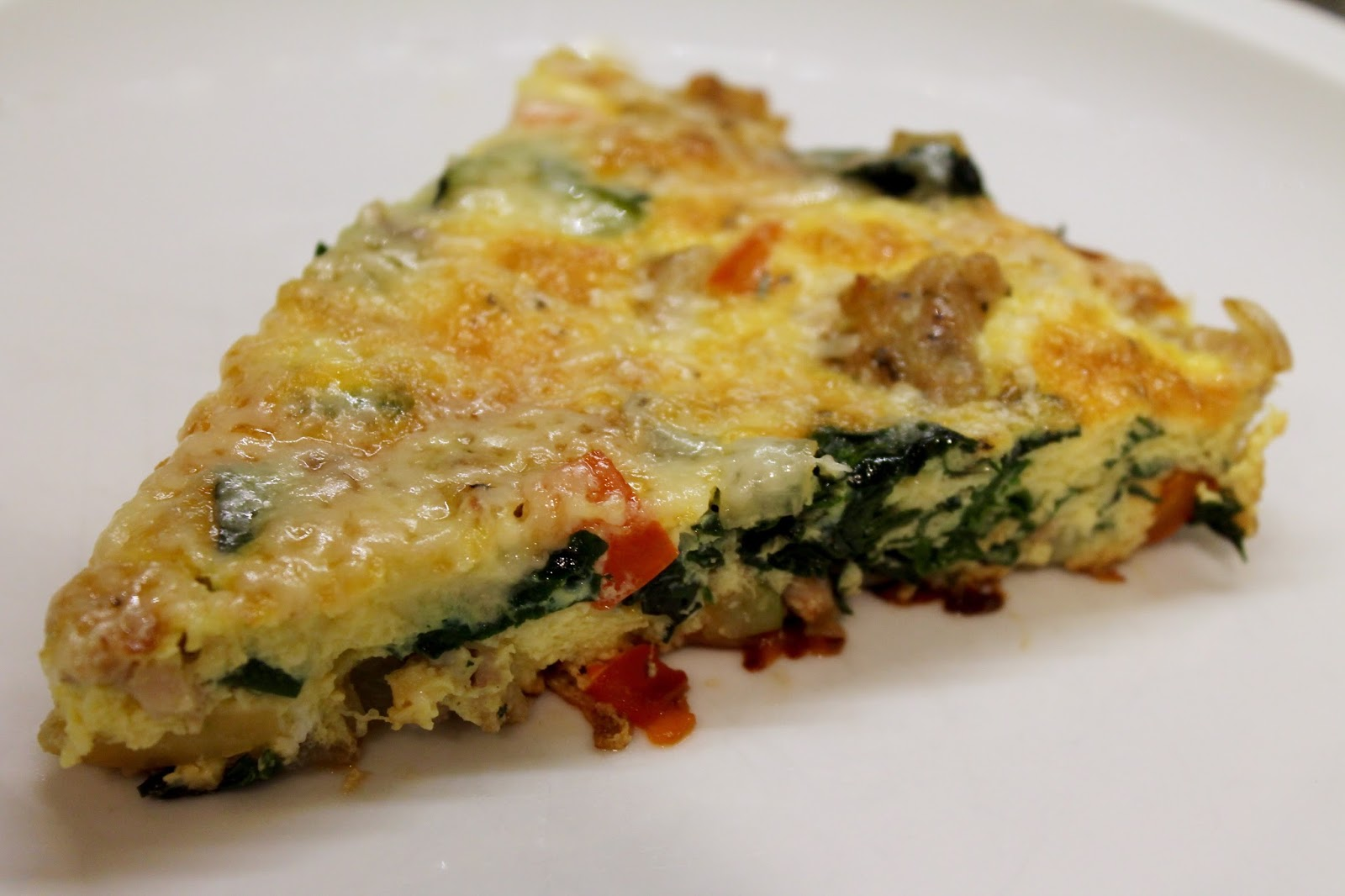 Cook In Dine Out Sausage Vegetable And Gruyere Frittata