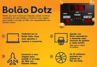 Cadastrar Promoção Dotz Bolão 2018 Concorra Viagem Assistir NBA EUA
