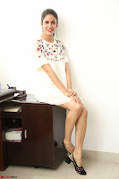 Lavanya Tripathi in Summer Style Spicy Short White Dress at her Interview  Exclusive 116.JPG