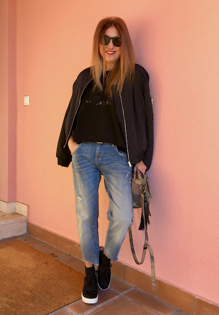 JustFab, Leopardo, bomber, look, street style, donde comprar, Moda, Blog de moda, Fashion blogger, Look