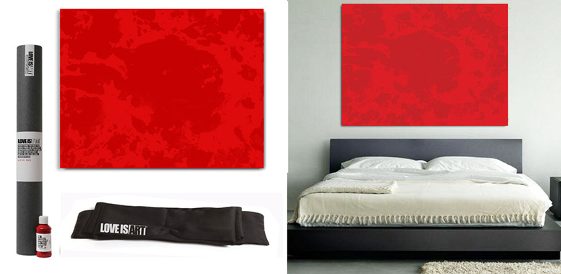 Red on Red Love Art Kit