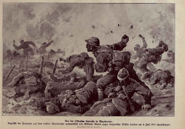 Der Krieg in Wort und Bild: Aus der Offensive Sarrails in Mazedonien - 1917