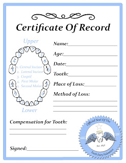 graphic about Free Printable Tooth Fairy Certificate called Absolutely free Enamel Fairy Certification Printable