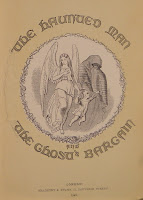 "An illustrated title page for ""The Haunted Man."""