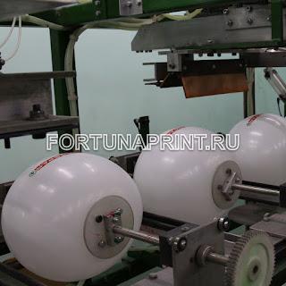Производство шаров с печатью Фортунапринт