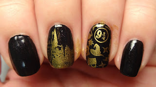 Harry Potter Stamped Nails