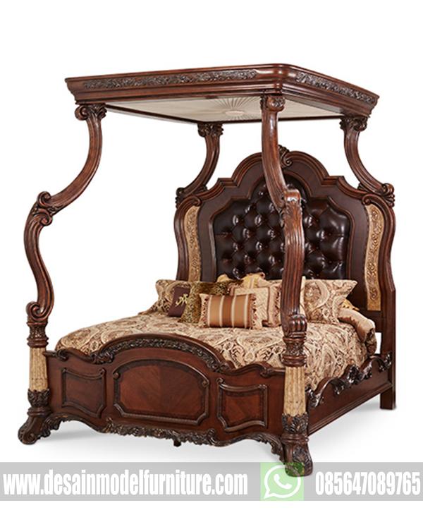 Desain tempat tidur ukir kayu jati