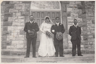 Ovila Gauthier and Cecile Meunier wedding 1948
