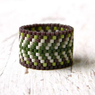 купить этнические украшения из бисера кольца ручной работы