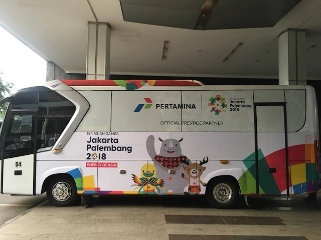 BUS BRANDING PERTAMINA OFFICIAL PRESTIGE ASIAN GAMES 2018