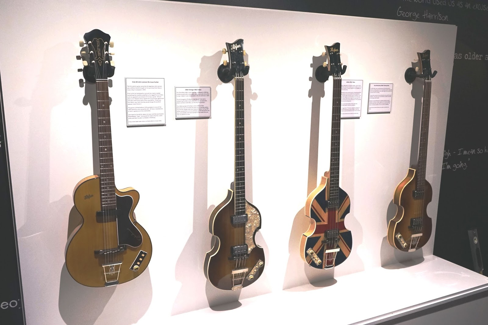 british beatles fan club beatles replica h fner guitars to go on display at the beatles story. Black Bedroom Furniture Sets. Home Design Ideas