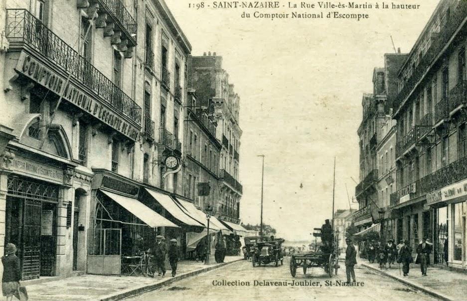 saint nazaire la ville d 39 antan st nazaire rue villes martin. Black Bedroom Furniture Sets. Home Design Ideas