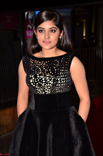 Niveda Thomas Black Sleeveless Cute Dress at 64th Jio Filmfare Awards South 2017 ~  Exclusive 050.JPG