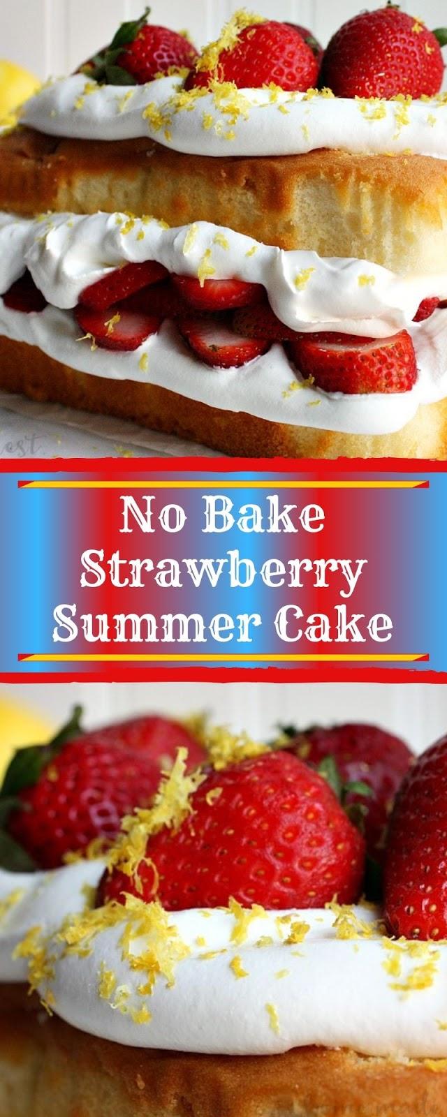 No Bake Strawberry Summer Cake