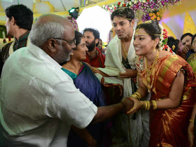 MM-Keeravani-at-singer-geeta-madhuri-nandu-wedding