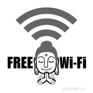 お寺、ほとけさま、Free wi-fi