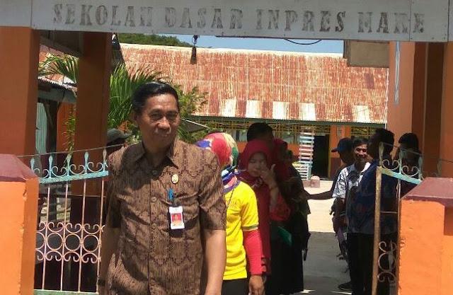 Kadis Dikbud Laksanakan Monitoring Sekolah, Di Kec. Pasimasunggu Timur
