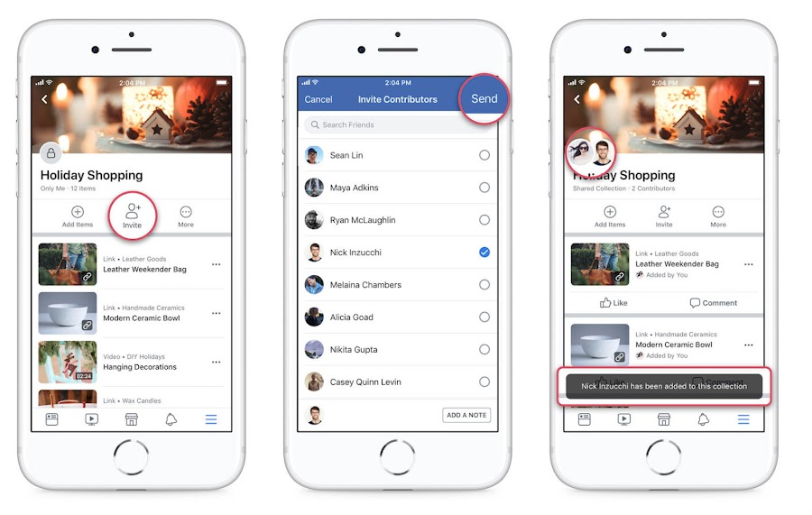 Facebook now lets you show off your gift list. You can now invite your friends to add to your saved bookmarks.