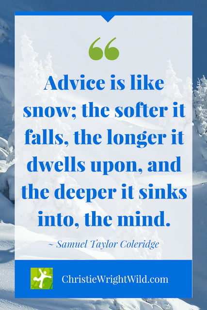 Samuel Taylor Coleridge quote || Advice is like snow | critique groups | writing advice
