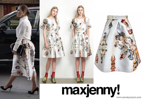 Crown Princess Victoria wore Maxjenny Sicily Skirt
