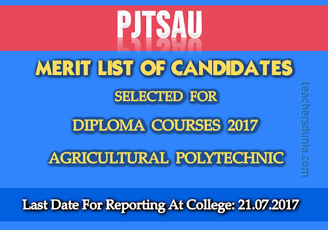 PJTSAU-Polytechnic-Diploma-Courses-Institutionwise-Prov-Selected-List