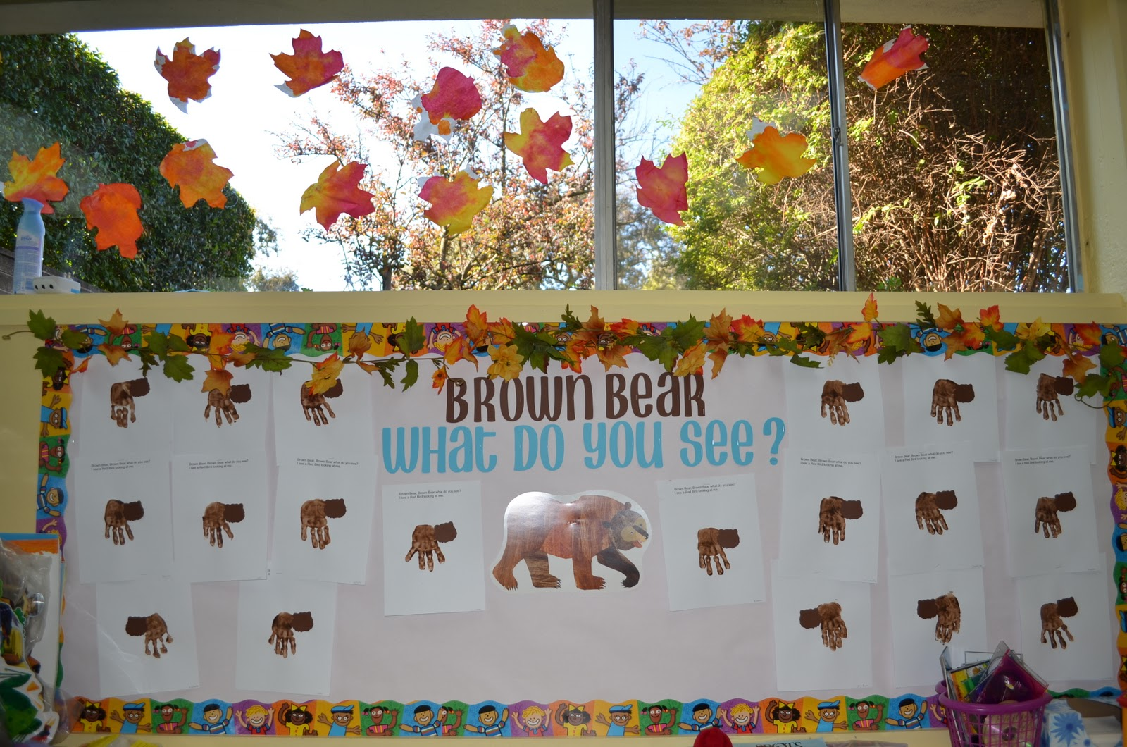 Preschool Ideas For 2 Year Olds Brown Bear Brown Bear What Do You See Collage Amp Hand Print
