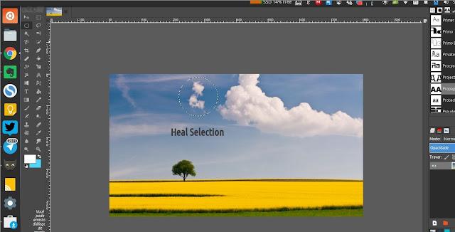 Heal Selection no GIMP