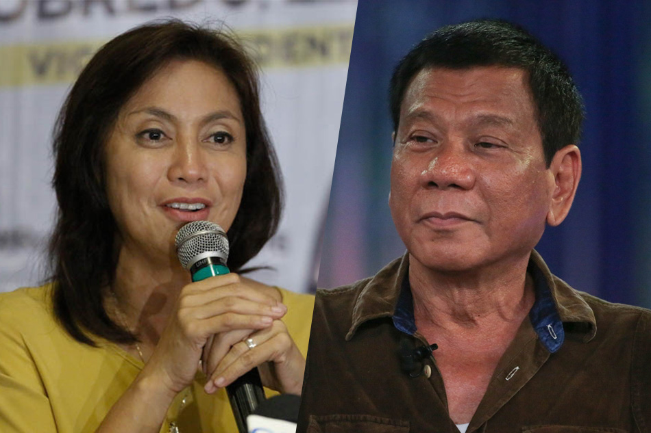 President Rodrigo Duterte and VP Leni