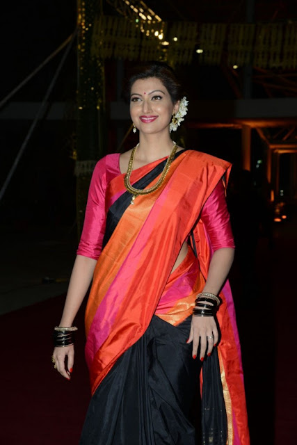 Hamsa Nandini in Traditional Saree at PVP daughter's Half Saree function