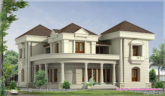 N Bungalow Elevation Plan Roof : Bedroom luxurious bungalow floor plan and d view
