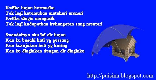 Puisi Sang Raja Air di Musim Hujan - PUISINA