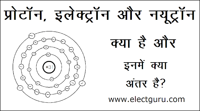 proton electron neutron definition in hindi