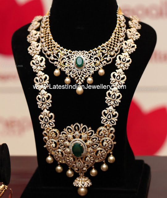 Huge Diamond Haram and Choker Set