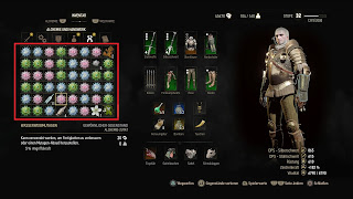 Inventory screen from Witcher 3 with mutagens.