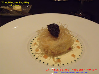 A plate presented at Joel Robuchon in Paris shows an example of beauty, smaller portion, and rule of odds.