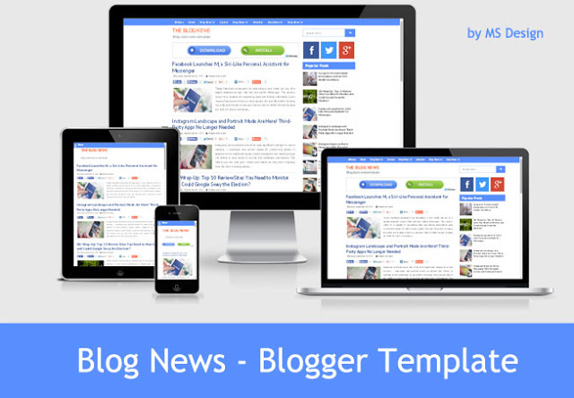 Blog News - Free Responsive Blogger Template By Ms Design - trickzed